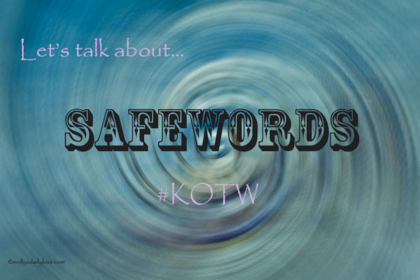 Blue swirl background with the word safeword in bold