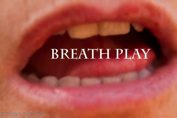 Open mouth with the words breath play over the top