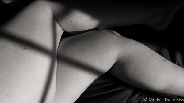 Mollys legs with cross shadow