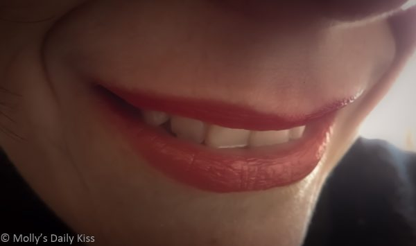 Womans lips with red lisptick