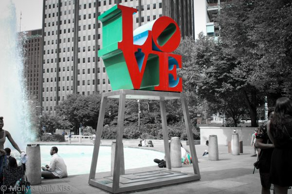 Love sign in Philadelphia
