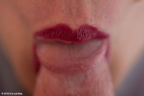 Lips round head of cock for post about fellatio
