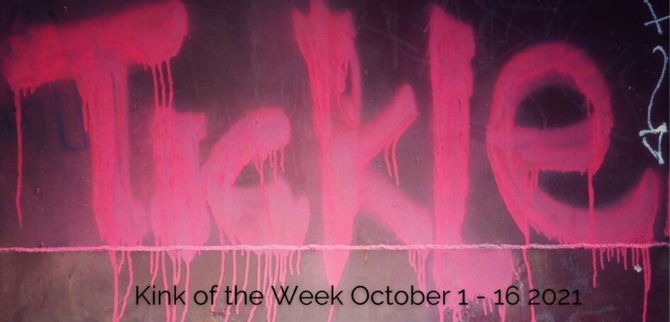 Tickle written on wall in pink graffiti paint for post about tickling